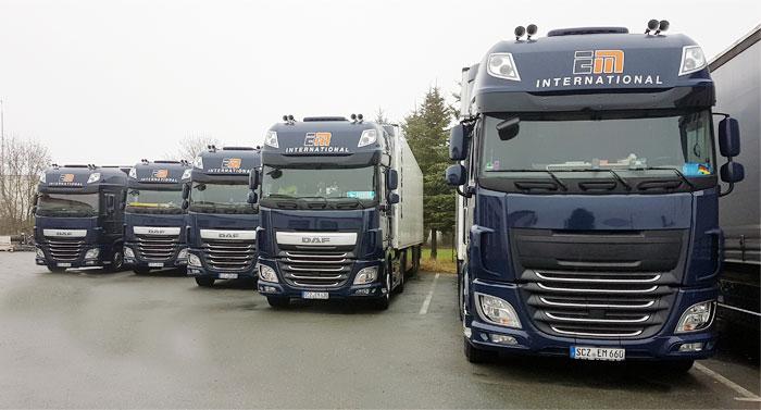 Fahrzeugflotte EM Logistik